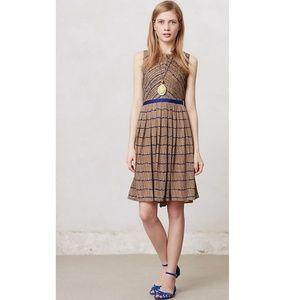 Anthropologie Isani Chevron Pleats dress S